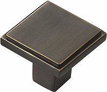 Solid Brass Square Bar Handle Cabinet Knob,2