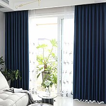 Solid Color Blackout Curtains Eyelet Panels Drapes