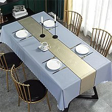 Solid Color Oil-Proof Tablecloth Table Runner