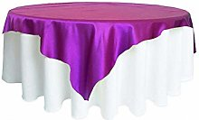 Solid Color Satin Tablecloth Table Cover Table