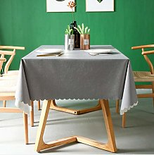 Solid Color Waterproof Checkered Tablecloth