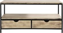 Solid Fir and Metal Industrial TV Unit