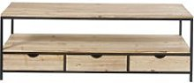 Solid Fir and Metal TV Unit