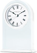 Solid Glass Arch Top Mantle Clock