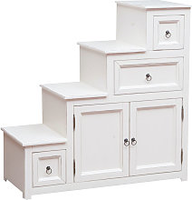 Solid lime wood antiqued white finish cabinet