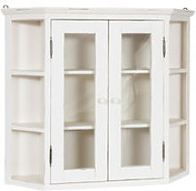 Solid lime wood antiqued white finish notched