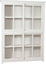 Solid lime wood, antiqued white finish