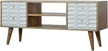 Solid Mango Wood - Capsule White Painted Media