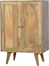 Solid Mango Wood Solid Wood Wine Utility Storage