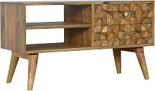 Solid Mango Wood TV Cabinet Media Unit - Unique