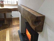 solid oak 8 x 4 beam, fireplace,surround (4 foot,