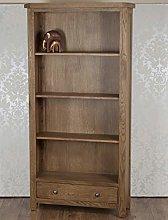 Solid Oak Bookcase Display Cabinet Storage Unit in