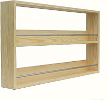 Solid Pine Spice Rack Up to 18 Spice Jar Capacity