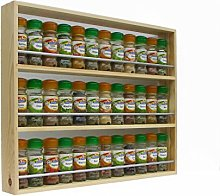 Solid Pine Spice Rack Up To 36 Jar Capacity 3