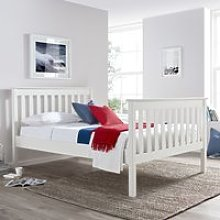 Solid Pine Wooden Bed Frame 4ft6 Double Lisbon