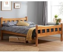 Solid Pine Wooden Bed Frame 4ft6 Double Miami