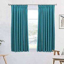 Solid Premium Blackout 54 Drops Curtain Panels