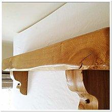 Solid Rustic Oak Fireplace Beam, Mantel, Shelf
