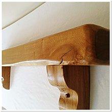 Solid Rustic Oak Fireplace Beam, Mantel. Shelf