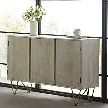 Solid Wood 3 Door Sideboard Living Room Storage