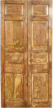 Solid wood and iron front door for interior or