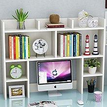 Solid Wood Bookshelf Adjustable Desktop Bookshelf