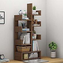 Solid Wood Bookshelf Children Multi-Storey