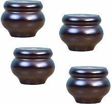Solid Wood Bun Legs,Gourd Shape Kitchen Furniture