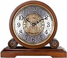 Solid Wood Clock Weilingdun Shelf Clock Wooden