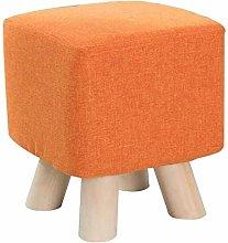 Solid Wood Footstool Upholstered Footrest Change