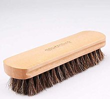 Solid Wood Horsehair Brush Soft Bristle Shoe Brush