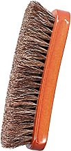 Solid Wood Horsehair Shoe Brush Soft Artificial