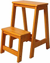 Solid Wood Household Folding Ladder,