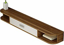 Solid Wood Small Apartment Floating TV Unit