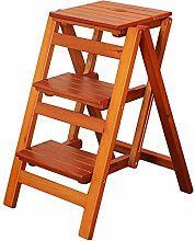 Solid Wood Step Stool, Household Folding Ladder