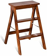 Solid Wood Step Stool Portable Collapsible Stool