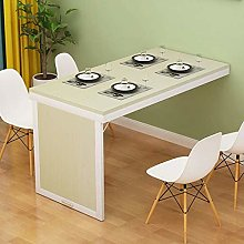 Solid Wood Wall-Mounted Folding Drop-Leaf Table,