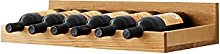 Solid Wood Wall Mounted Wine Rack Under Cabinet