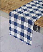 Solino Home 100% Pure Linen Buffalo Check Table