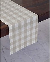 Solino Home 100% Pure Linen Checks Table Runner