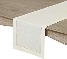 Solino Home 100% Pure Linen Hemstitch Table Runner