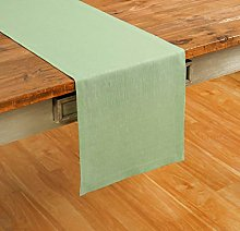 Solino Home 100% Pure Linen Table Runner – 14 x