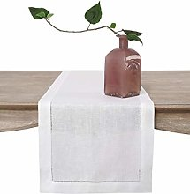 Solino Home 100% Pure Linen Table Runner – 16 x