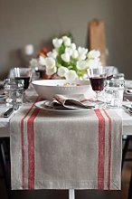 Solino Home French Stripe Table Runner – 14 x 90