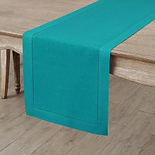 Solino Home Hemstitch Linen Table Runner - 14 x