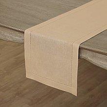 Solino Home Hemstitch Linen Table Runner - 14 x 90