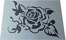 Solitarydesign Shabby Chic Stencil Centre Rose