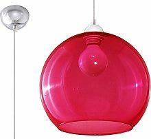 Sollux Lighting Glass Ball Pendant Light, Red,
