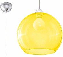Sollux Lighting Glass Ball Pendant Light, Yellow,