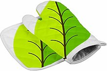 Soloatman Green Kitchen Oven Mitts Funny oven